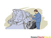 Ausbildung als Industriemechaniker Clipart, Bild, Grafik