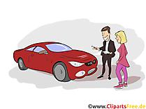 Automobilkaufmann Clipart, Bild, Grafik zum Thema Ausbildungsberufe