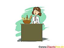 Bäckereifachverkäufer Clipart, Bild, Grafik zum Thema Ausbildungsberufe