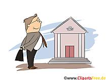 Bankkaufmann Clipart, Bild, Grafik zum Thema Ausbildungsberufe