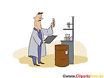 Baustoffprüfer Clipart, Bild, Grafik zum Thema Ausbildungsberufe