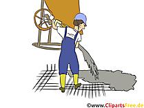 Beton und Stahlbauer Clipart, Bild, Grafik zum Thema Ausbildungsberufe