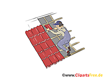 Dachdecker Clipart, Bild, Grafik zum Thema Ausbildungsberufe