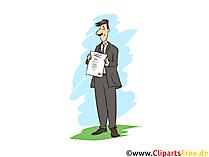 Diplomkaufmann Clipart, Bild, Grafik zum Thema Ausbildungsberufe