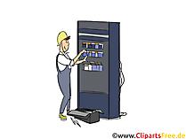 Elektroniker für Energie- und Gebäudetechnik Clipart, Bild, Grafik