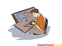 Elektroniker für Informations- und Systemtechnik Clipart, Bild, Grafik zum Thema Ausbildungsberufe