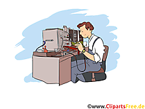 Elektrotechniker Clipart, Bild, Grafik zum Thema Ausbildungsberufe