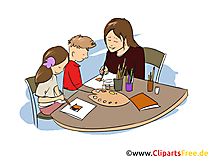 Erzieher Clipart, Bild, Grafik zum Thema Ausbildungsberufe
