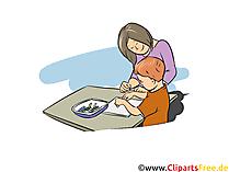 Erzieherin Bild, Clipart, Grafik zum Thema Ausbildungsberufe)