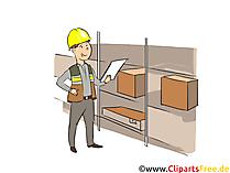 Fachkraft für Lagerlogistik Clipart, Bild, Grafik zum Thema Ausbildungsberufe