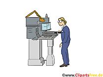 Fachkraft für Metalltechnik Clipart, Bild, Grafik zum Thema Ausbildungsberufe