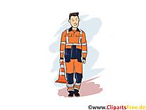 Fachkraft für Straßen- und Verkehrstechnik Clipart, Bild, Grafik zum Thema Ausbildungsberufe