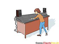 Fachkraft für Veranstaltungstechnik Clipart, Bild, Grafik zum Thema Ausbildungsberufe