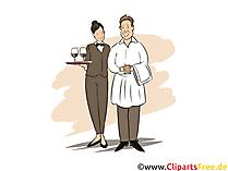 Fachkraft im Gastgewerbe Ausbildung, Berufe Cliparts, Bilder