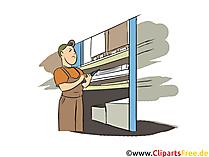 Fachlagerist Clipart, Bild, Grafik zum Thema Ausbildungsberufe