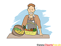 Fachverkäufer im Lebensmittelhandwerk - AusbildungsberufBild, Clipart, Grafik