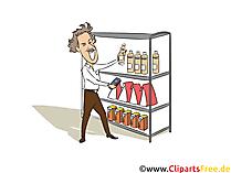 Fachwirt für Vertrieb im Einzelhandel Clipart, Bild, Grafik zum Thema Ausbildungsberufe