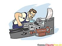 Feinwerkmechaniker Clipart, Bild, Grafik zum Thema Ausbildungsberufe