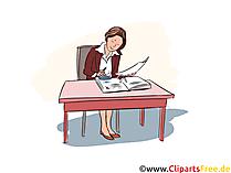 Finanzassistent Clipart, Bild Ausbildung, Berufe