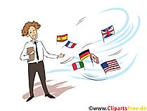 Fremdsprachenkorrespondent Clipart, Bild, Grafik zum Thema Ausbildungsberufe