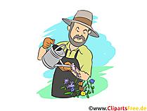 Gärtner Clipart, Bild, Grafik zum Thema Ausbildungsberufe
