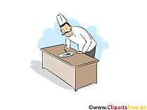 Gastronomiefachmann Clipart, Bild, Grafik zum Thema Ausbildungsberufe
