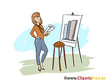 Gestalter für visuelles Marketing Clipart, Bild, Grafik