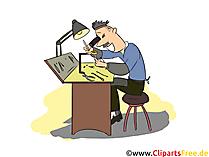 Goldschmied Clipart, Bild, Grafik zum Thema Ausbildungsberufe