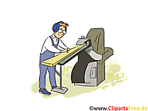 Holzmechaniker Clipart, Bild, Grafik zum Thema Ausbildungsberufe