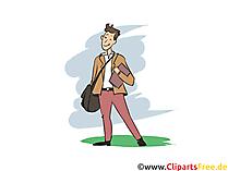 Industriekaufmann Clipart, Bild, Grafik zum Thema Ausbildungsberufe