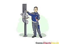 Industriemechaniker Clipart, Bild, Grafik zum Thema Ausbildungsberufe