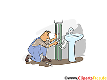 Installateur Clipart, Bild, Grafik zum Thema Ausbildungsberufe
