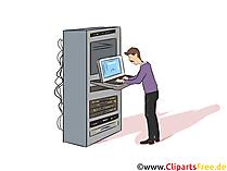 IT-Systemkaufmann Clipart, Bild, Grafik zum Thema Ausbildungsberufe