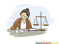 Justizfachangestellter Clipart, Bild, Grafik zum Thema Ausbildungsberufe