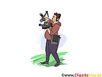 Kameramann Clipart, Bild, Grafik zum Thema Ausbildungsberufe