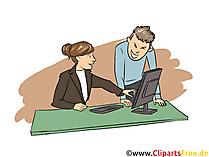 Kauffrau -mann für Büromanagement Clipart, Bild, Grafik zum Thema Ausbildungsberufe