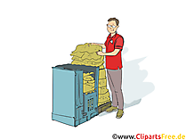 Kaufmann im Einzelhandel Clipart, Bild, Grafik zum Thema Ausbildungsberufe