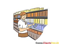 Kaufmann im Großhandel Clipart, Bild, Grafik zum Thema Ausbildungsberufe