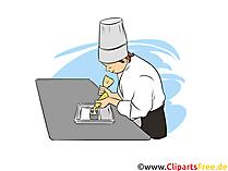 Konditoreifachverkäufer Clipart, Bild, Grafik zum Thema Ausbildungsberufe