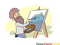 Künstler Clipart, Bild, Grafik zum Thema Ausbildungsberufe