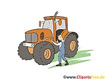 Land- und Baumaschinenmechatroniker Clipart, Bild, Grafik