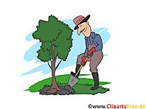 Landschaftsgärtner Clipart, Bild, Grafik zum Thema Ausbildungsberufe