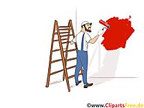 Maler, Lackierer Clipart, Bild, Grafik zum Thema Ausbildungsberufe