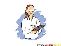 Management Assistentin Clipart, Bild, Grafik zum Thema Ausbildungsberufe