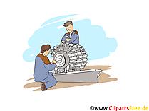 Maschinen und Anlagenführer Clipart, Bild, Grafik zum Thema Ausbildungsberufe