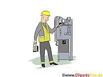 Maschinenmechaniker Clipart, Bild, Grafik zum Thema Ausbildungsberufe