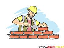 Maurer Clipart, Bild, Grafik zum Thema Ausbildungsberufe