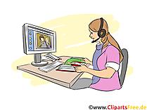 Medienkaufmann Clipart, Bild, Grafik zum Thema Ausbildungsberufe