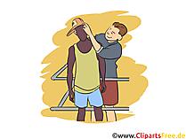 Merchandiser Clipart, Bild, Grafik zum Thema Ausbildungsberufe