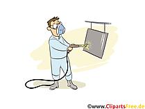 Oberflächenbeschichter Clipart, Bild, Grafik zum Thema Ausbildungsberufe